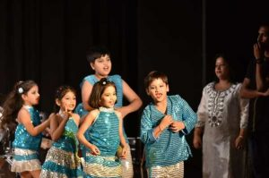 Children performing music & dance at Tansen Sangeet Mahavidyalaya